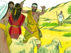 A priest of Midian had 7 daughters who came out to water his flock but shepherd chased them away.