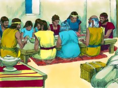 That night at midnight, the Israelites ate the feast