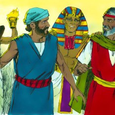 Pharaoh called for Moses and Aaron sending them and the people away.