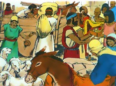 The Israelites plundered the Egyptians